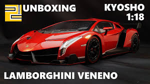 Lamborghini Veneno Red - unboxing lamborghini veneno 1 18 kyosho ousia red metallic youtube
