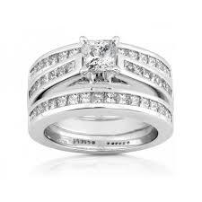 three ring wedding set 3 set wedding rings wedding promise engagement rings