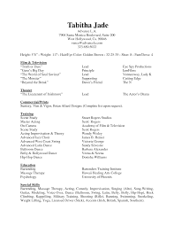 Acting Resume Template Free Download Theater Resume Sample Resume Cv Cover Letter