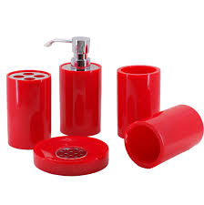Red And Black Bathroom Accessories Sets Red Bathroom Accessories Sets U2013 S T O V A L
