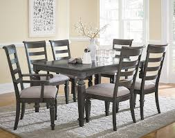 Wood Dining Chairs Standard Furniture Garrison Traditional Seven Piece Dining Set