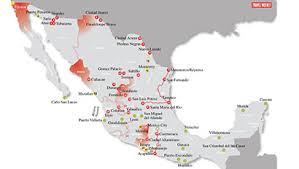 map of us vacation spots mexico travel warning mapped travel weekly