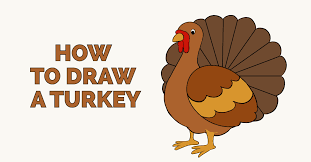how to draw a turkey really easy drawing tutorial