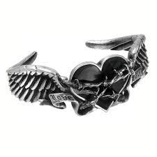 black heart bracelet images Alchemy gothic black heart thorns romance bracelet jewelry jpg