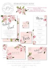 carte mariage ã imprimer ensemble de papeterie de mariage à imprimer pdf save the date