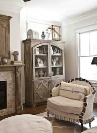farmhouse armoire decorate the top of an armoire