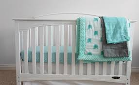 baby crib bedding set for boys minky quilt double gauze organic