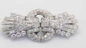 buy this stunning 1930s art deco diamond double clip brooch www