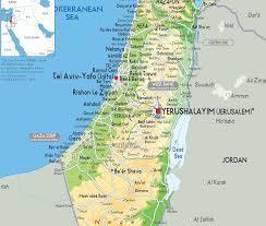 Physical Maps Israel Physical Map Jewish U0026 Israel News Algemeiner Com