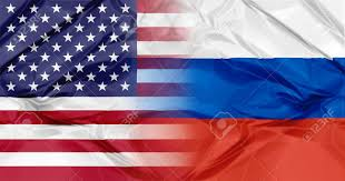 Colors Of Russian Flag Russia Flag And United States Of America Flag United In A