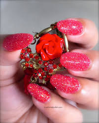 sparkly nail design festive and perfect for special events