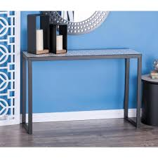 Metal And Wood Furniture American Home Modern Metal And Wood Lattice Console Tables In