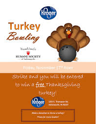turkey bowling at kroger indyhumane