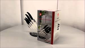 cutlery set with stand royalty line 4pcs creamic knife set with acrylic stand rl c4s