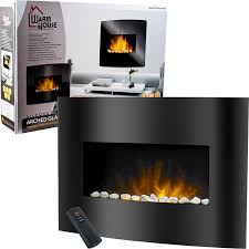 Home Depot Wall Mount Fireplace by Amazon Com Warm House Black Arched Glass Electric Fireplace