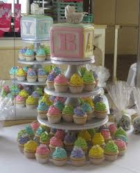 baby block cupcake tower party ideas to die for pinterest
