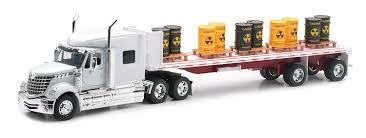 model semi trucks amazon com newray international lonestar flatbed with radioactive