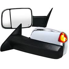 towing mirrors for dodge ram 3500 ram 2500 3500 chrome power heated towing mirrors