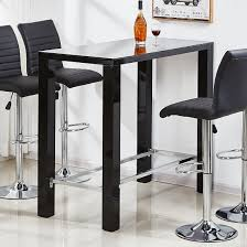 Black Bar Table Jam Glass High Bar Table Rectangular In Black High Gloss