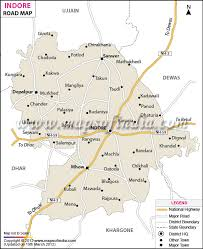 search road map indore road map