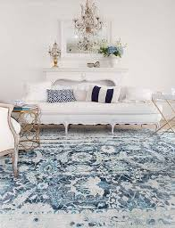 blue living room rugs a gorgeous new blue distressed shabby chic rug shabbyfufu com