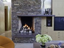 interior stack fireplace places home decor