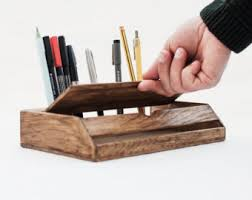 wood handmade desk organizer office modern desk organizer