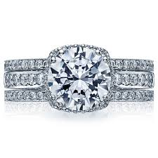 Tacori Wedding Rings by Tacori Dantela 2620rdp Halo Pave Engagement Ring