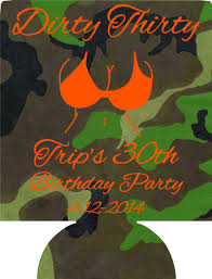 30th birthday delivery thirty 30th birthday party camo koozies can coolers