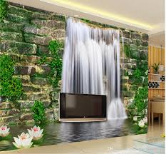 Home Wallpaper Decor by Fashion 3d Home Decor Beautiful Stone Wall Waterfall 3d Tv Wall 3d
