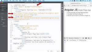 app building class routing templates building single page application with angular