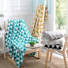 ou jeter un canapé acrylique 130x170 cm tricoté jeter travle couverture gris jaune