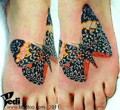 35 splendid foot butterfly tattoos and designs