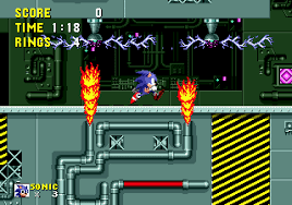 category levels with an industrial theme sonic retro