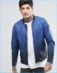 blue motorbike jacket replay 2016 fall winter men u0027s collection look book
