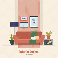 home interior vector home interior design concept made in modern flat style living
