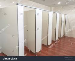 Clean Wall by Partition Wall Toilet Clean Toilet Stock Photo 496145893