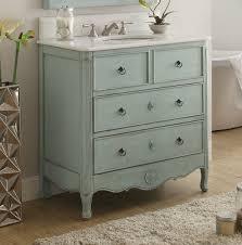34 inch vanity hf081lb distressed light blue