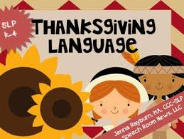 thanksgiving language speech therapy activities by rayburn