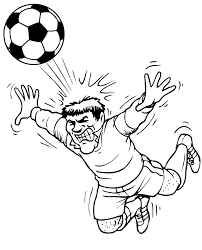 soccer coloring player diving ball