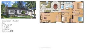 Split Ranch House Plans Modular Home Ranch Plan 219 2 Jpg