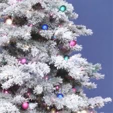 vickerman prelit flocked alaskan tree with multicolor lights