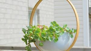 how to modern embroidery hoop hanging planter make