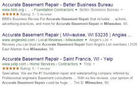 Basement Repair Milwaukee by Importance Of Online Business Listings U0026 Reviews As Ranking Factors