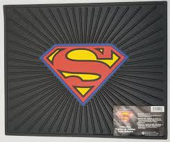 superman jeep 0241046 superman logo rubber mat