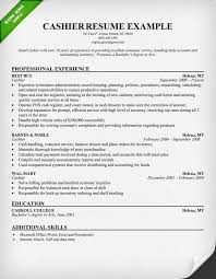 Resume Sles For Cashier Cashier Resume Exle Print This Sle And Use It As A
