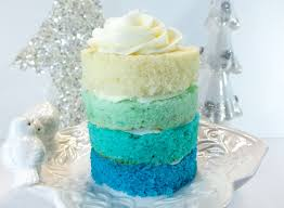 frozen ombre mini cakes two sisters crafting
