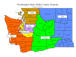County Map Washington State by 6 Regionmap Png