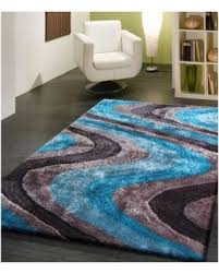 Silver Shag Rug Fall Sale Vibrant Waves Turquoise Gray And Silver Hand Tufted