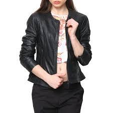 buy biker jacket buy black ladies leather jacket online india at best price